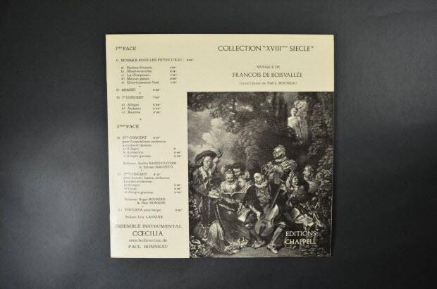 disque 33 tours - Collection XVIIIème siècle
