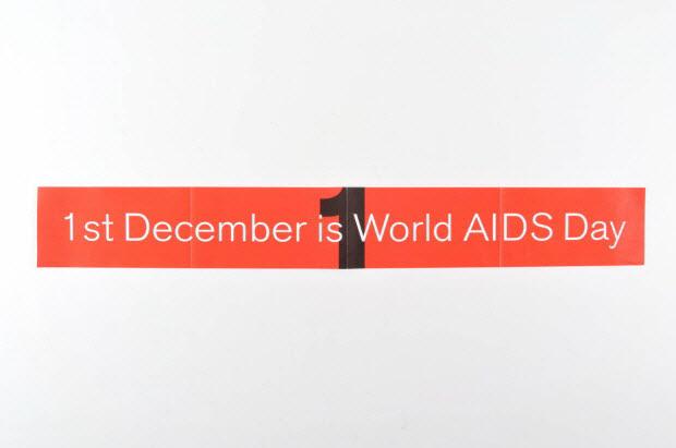 """banderole - """"1st December is World AIDS Day """" (Le 1er décembre est la journée mondiale du sida)"""