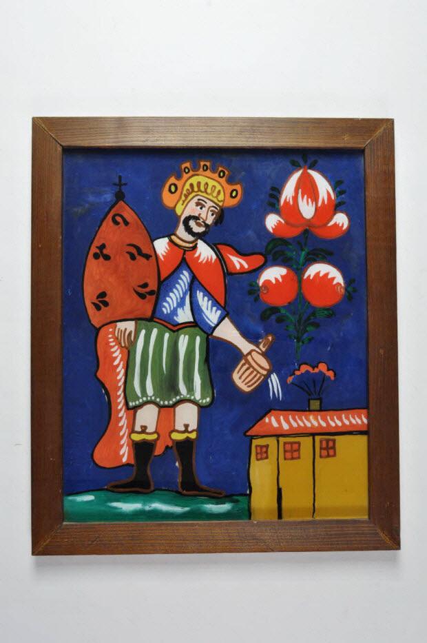 peinture sous verre - Saint Florian