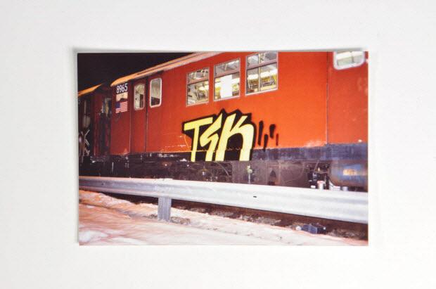 photographie - Photo de train graffé
