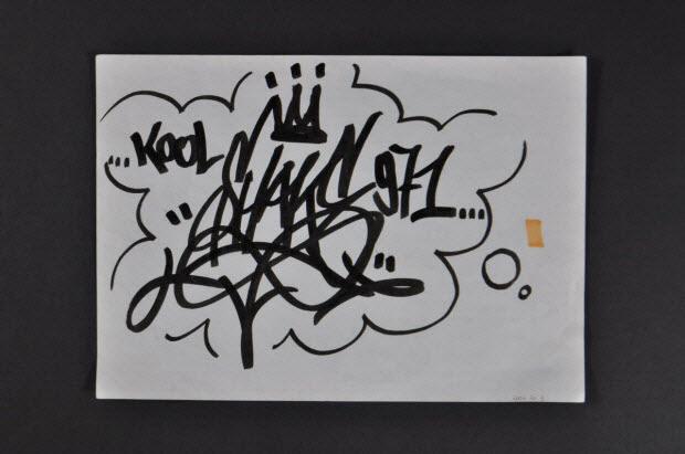 dessin - Tag sur papier
