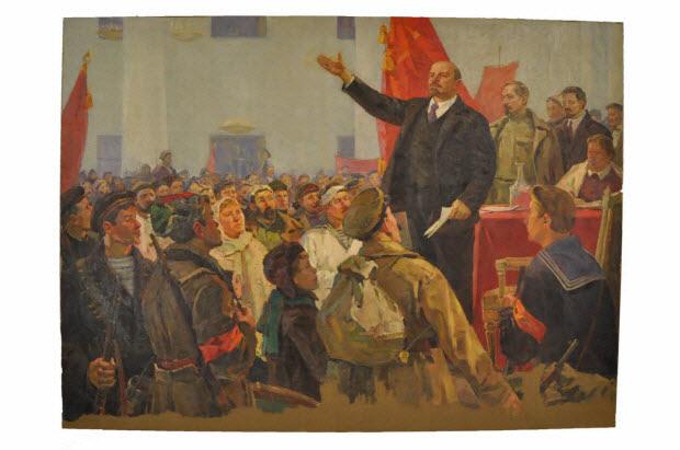 tableau - Discours de Lénine devant le Peuple
