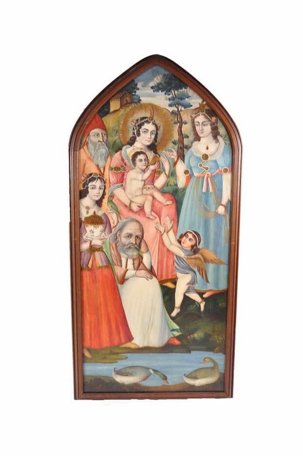 tableau - Sheik Sana'an, la Vierge et l'Enfant