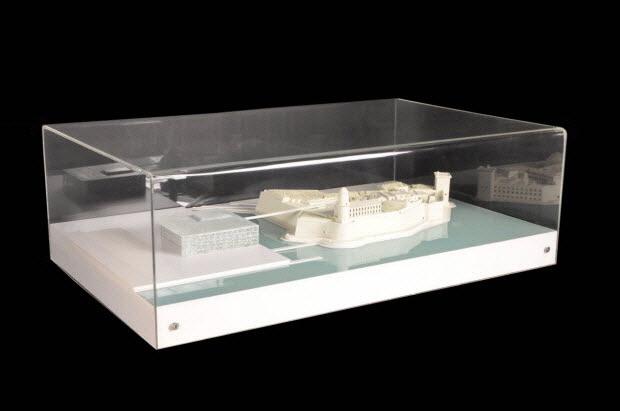 maquette d'architecture - Maquette du lauréat du concours d'architecture du Mucem J4