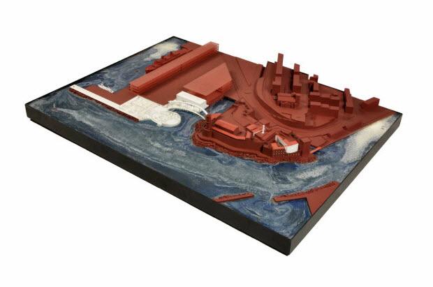 maquette d'architecture - Maquette du projet d'architecture pour le Mucem J4