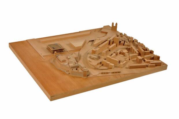 maquette d'architecture - Maquette du concours d'architecture pour le Mucem J4