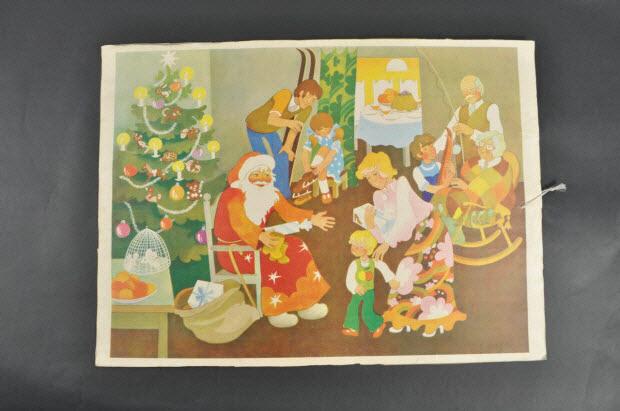 PLANCHE EDUCATIVE - Famille et Père Noël