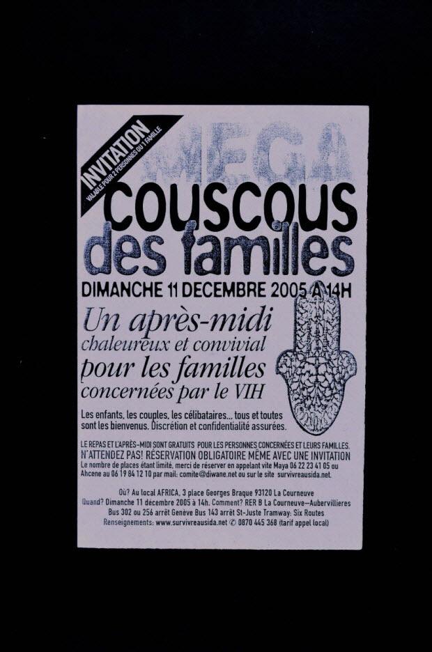 """TRACT - """"Couscous des familles"""""""