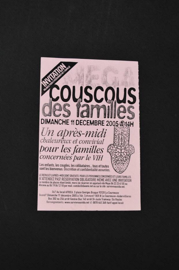 TRACT - Invitation : couscous des familles