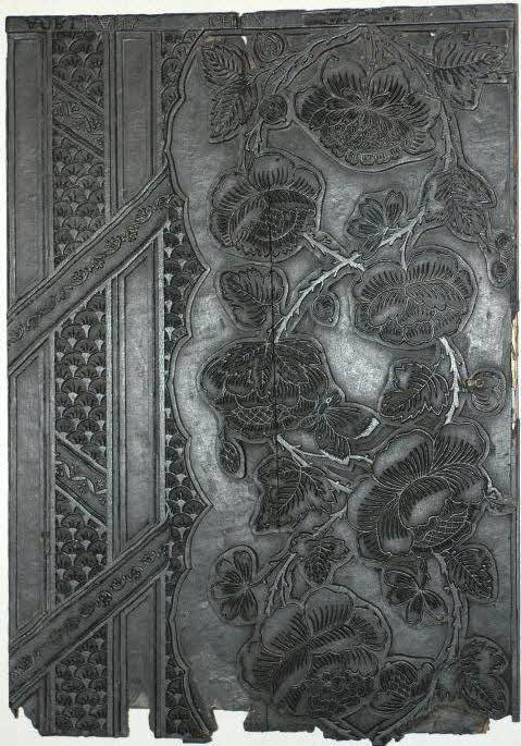 BOIS D'IMAGERIE - Planche d'impression pour papier de tenture