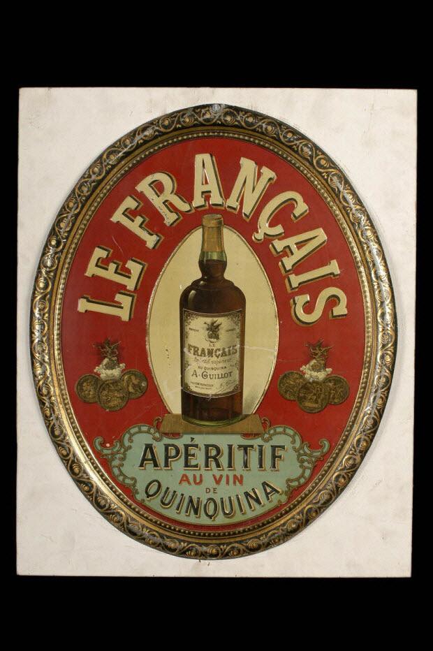 plaque publicitaire - Publicité pour Le Français, apéritif au vin de quinquina