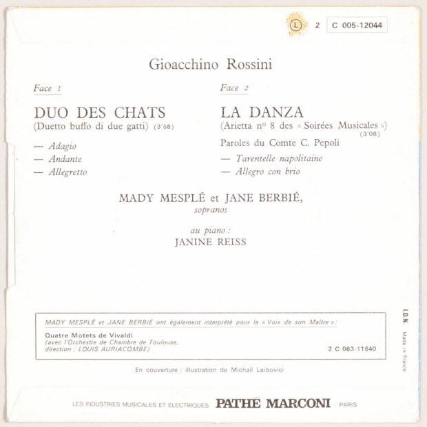 disque 45 tours - La Danza