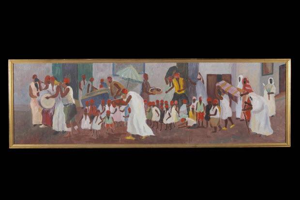 tableau - Cortège de circoncision, copie d'après Gustave-Henri (dit Abdou'l Karim) Jossot