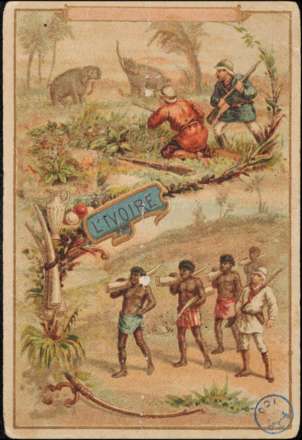 carte réclame - L'IVOIRE