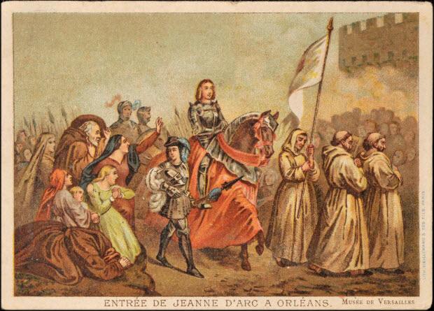 carte réclame - ENTREE DE JEANNE D'ARC A ORLEANS.