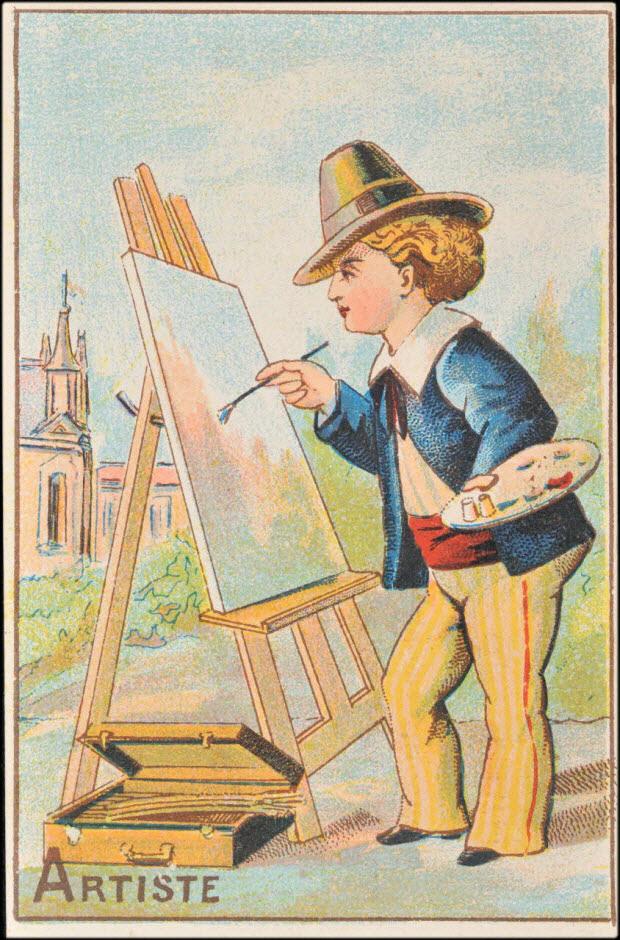 carte réclame - ARTISTE
