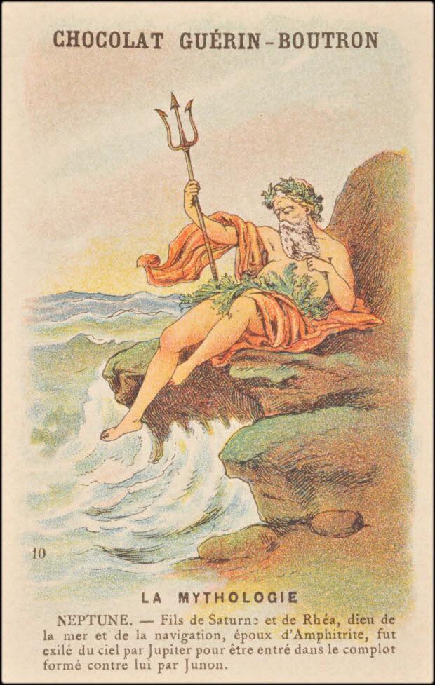 carte réclame - LA MYTHOLOGIE NEPTUNE.