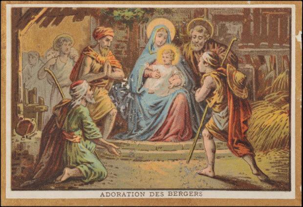 carte réclame - ADORATION DES BERGERS