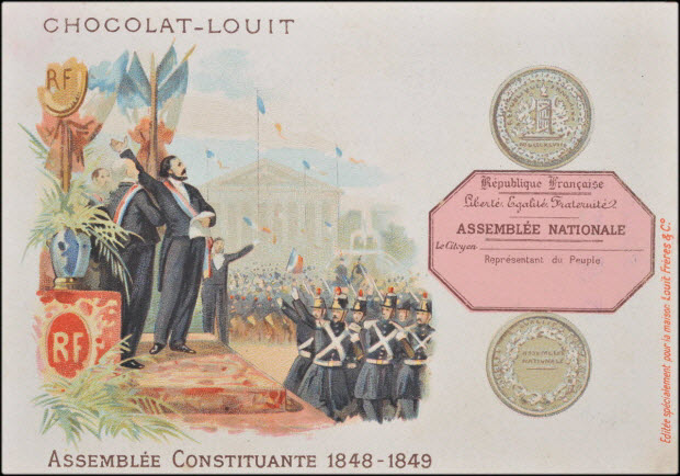 carte réclame - ASSEMBLÉE CONSTITUANTE 1848-1849