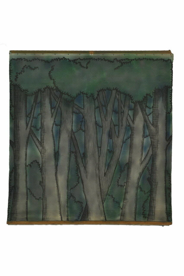 toile peinte - la forêt