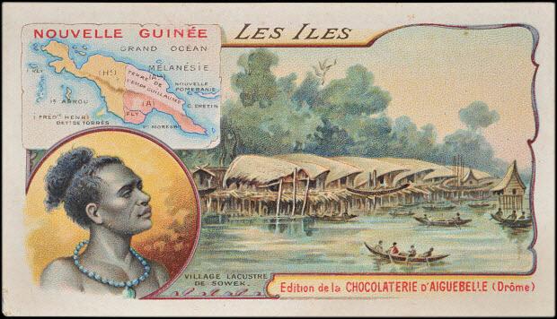 carte réclame - LES ILES NOUVELLE GUINEE
