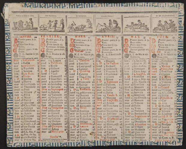 estampe - ALmanach de 1786
