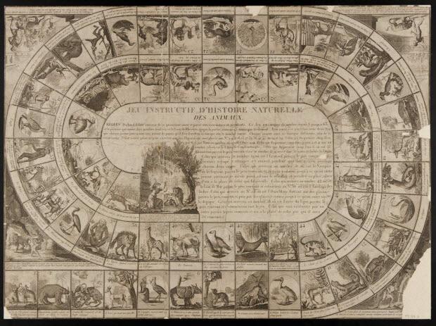 jeu de l'oie - JEU INSTRUCTIF D'HISTOIRE NATURELLE DES ANIMAUX