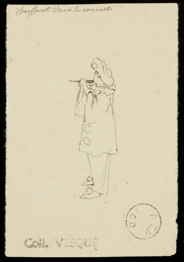 partie d'un ensemble de dessins - Soufflant dans les couverts