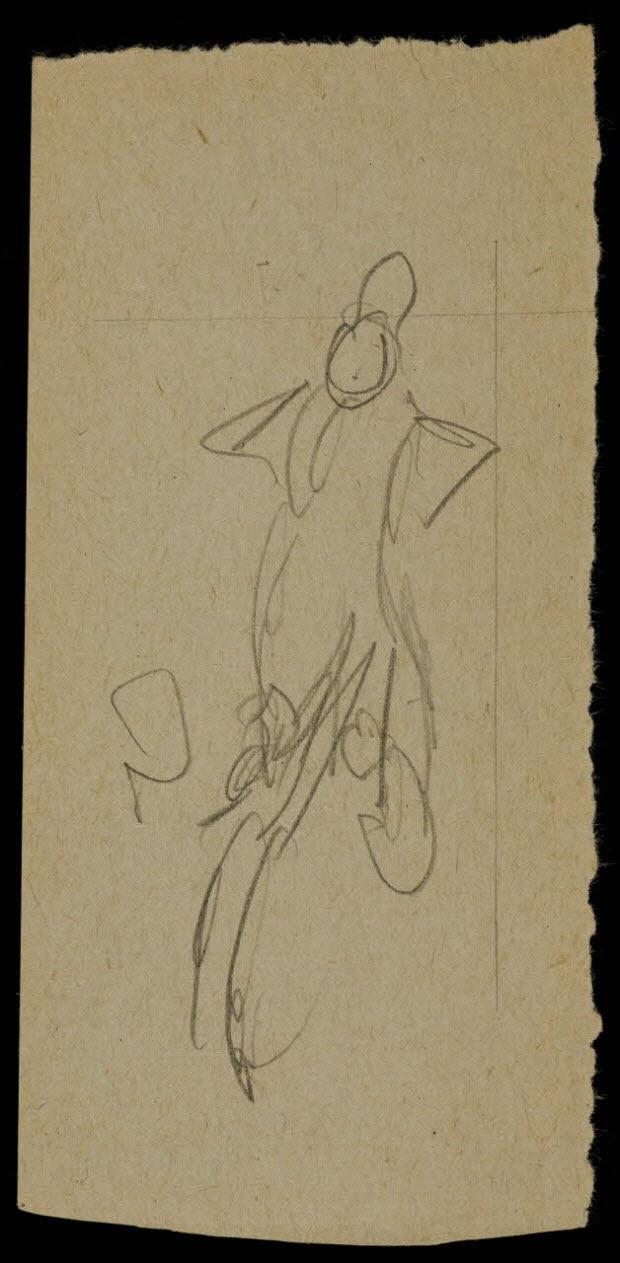 partie d'un ensemble de dessins - Ebauche de dessin