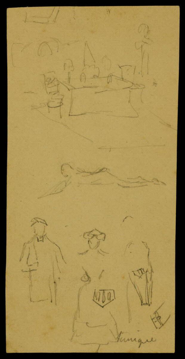 partie d'un ensemble de dessins - Lyons