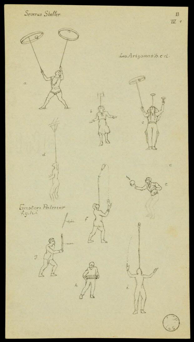 partie d'un ensemble de dessins - Severus Sheffer Les Arizonas Gaston Palmer