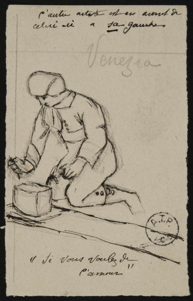 partie d'un ensemble de dessins - Venezia