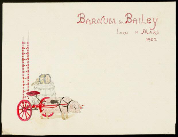 partie d'un ensemble de dessins - BARNUM & BAILEY LUNDI 10 MARS 1902