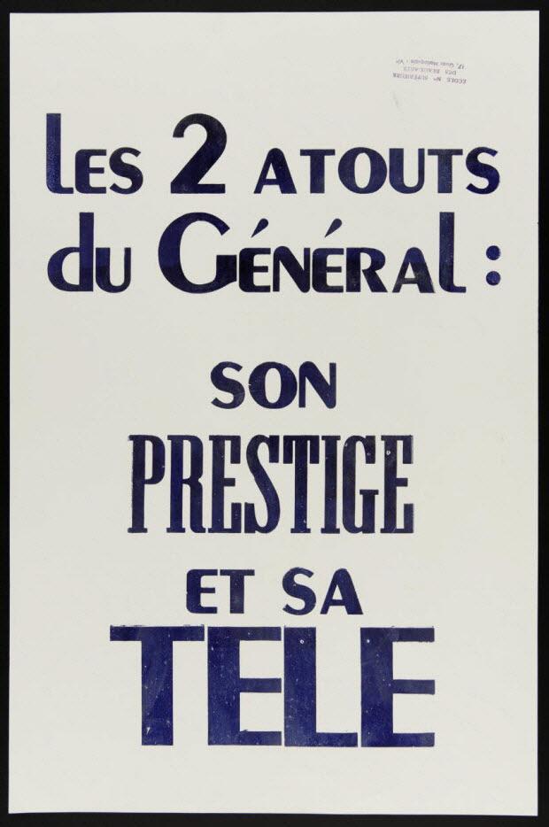 affiche - Les 2 atouts du Général !: son prestige et sa télé