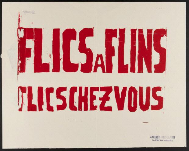 affiche - Flics à Flins Flics chez vous