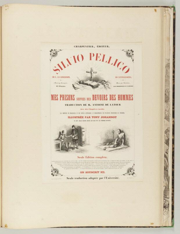 affiche - SILVIO PELLICO MES PRISONS SUIVIES DES DEVOIRS DES HOMMES