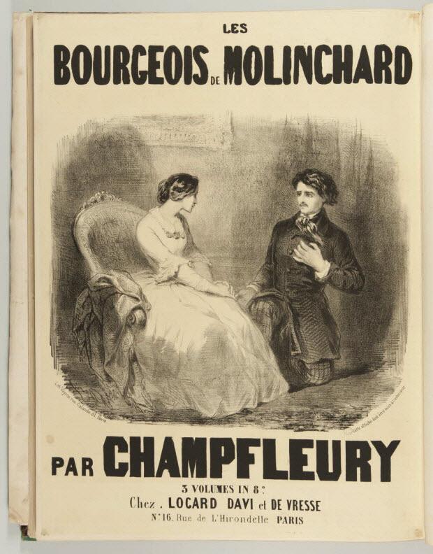affiche - LES BOURGEOIS DE MOLINCHARD PAR CHAMPFLEURY
