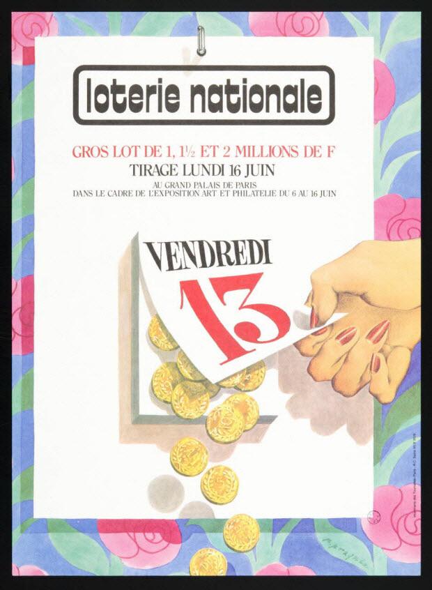 estampe - loterie nationale VENDREDI 13