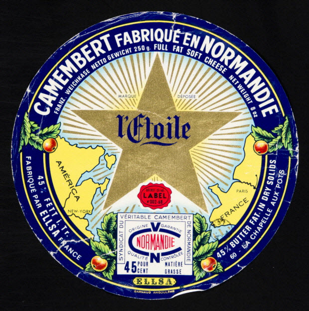 estampe - CAMEMBERT FABRIQUE EN NORMANDIE l'Etoile
