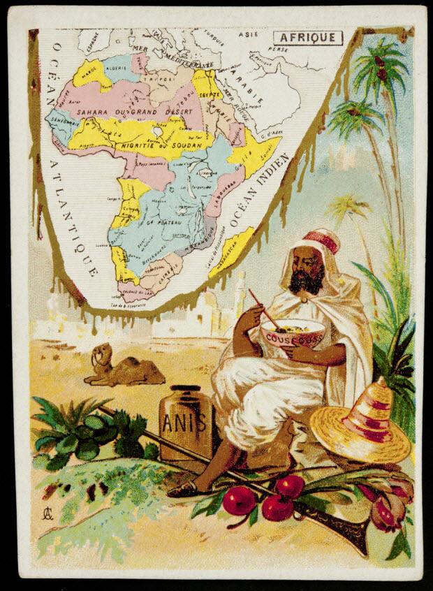 carte réclame - AFRIQUE