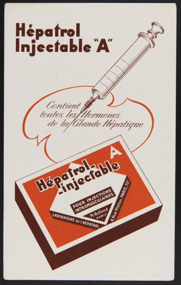 """buvard publicitaire - Hépatrol Injectable """"A"""""""
