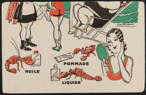 buvard publicitaire - Pour les taches de rousseur (pommade) POMMADE HUILE LIQUIDE