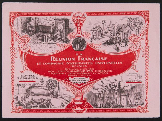buvard publicitaire - LA REUNION FRANCAISE