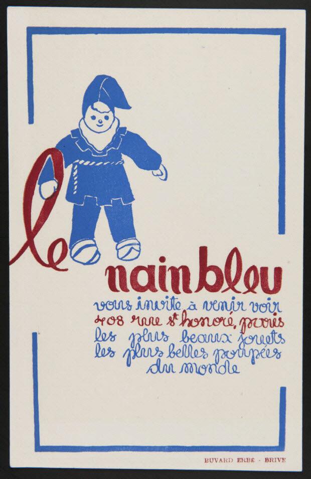 buvard publicitaire - Le nain bleu