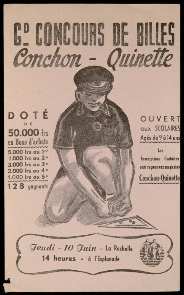 buvard publicitaire - GD- CONCOURS DE BILLES