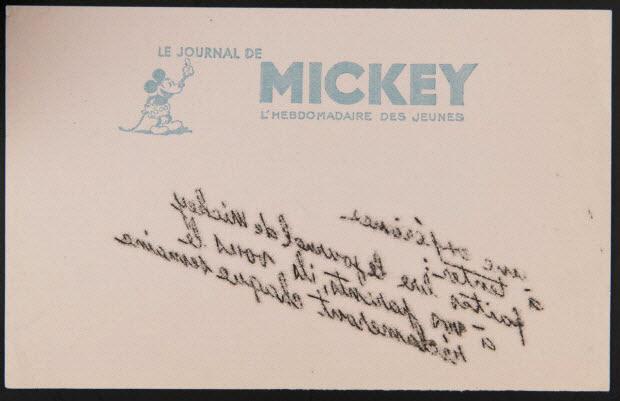 buvard publicitaire - LE JOURNAL DE MICKEY