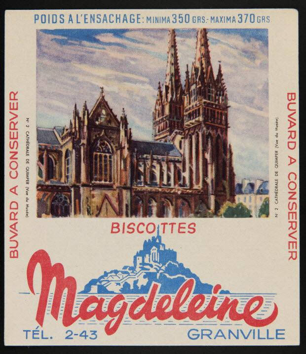 buvard publicitaire - BISCOTTES Magdeleine