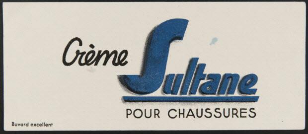 buvard publicitaire - Crème Sultane POUR CHAUSSURES