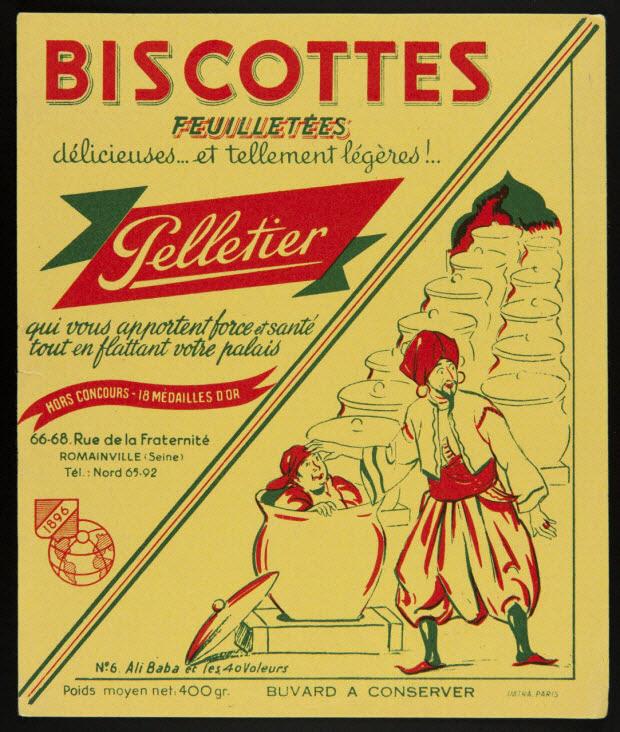 buvard publicitaire - BISCOTTES FEUILLETEES délicieuses... et tellement légères !.. Pelletier