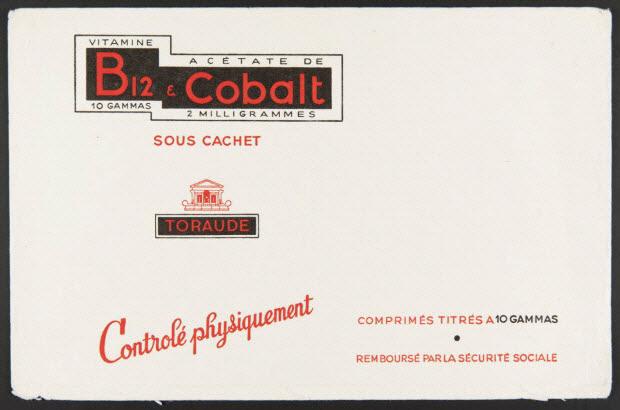 buvard publicitaire - VITAMINE B12 & ACETATE DE Cobalt
